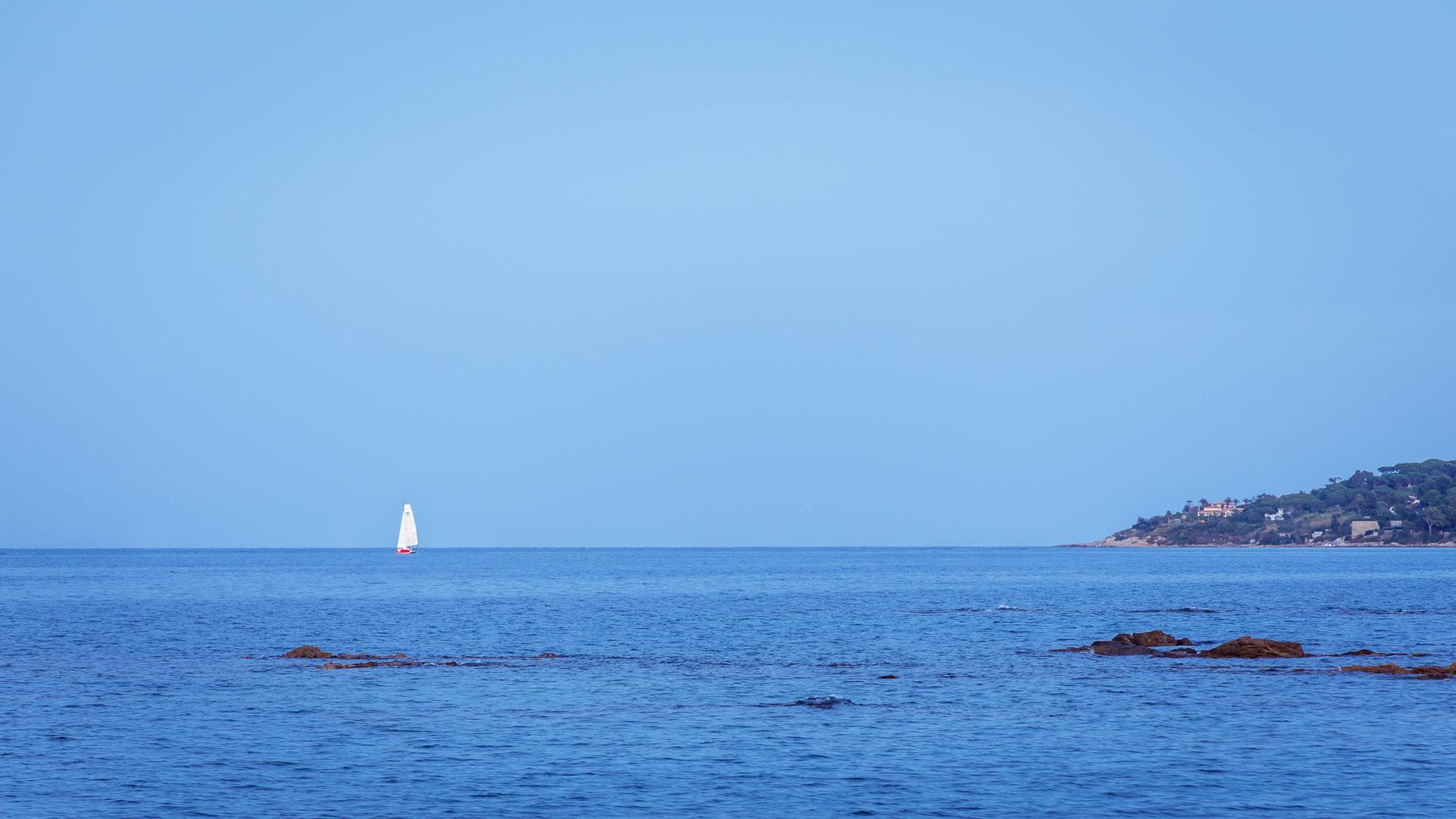 Vue sur la mer de Saint Tropez